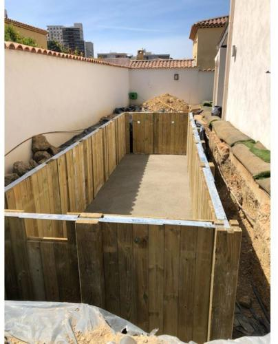 construction piscine bois -2 acces difficile