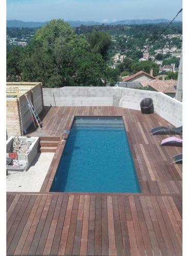 construction piscine bois - 1 après teminée